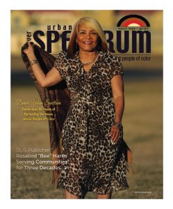 Bee Harris on the cover of Urban Spectrum