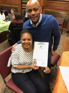 Rosalind Alston & Mayor Michael Hancock