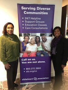 Dr Mary Davis with Alzheimers Association