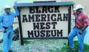 Charlie Sampson and Maurice Wade at Black American West Museum