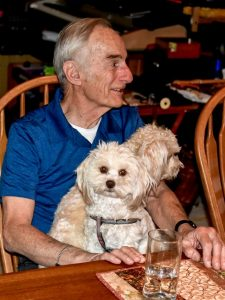 Hartmut Spetzler and dogs volunteering at Boulder Area on Aging