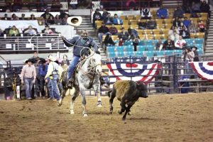 Maurice Wade in a rodeo